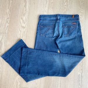 7 For All Mankind Dojo Shining Stones Flare Jeans